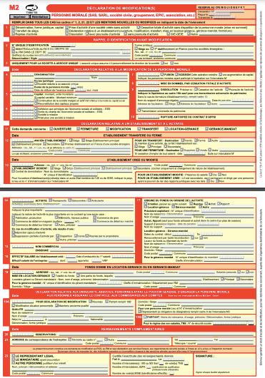 Modèle Formulaire M2 SCI