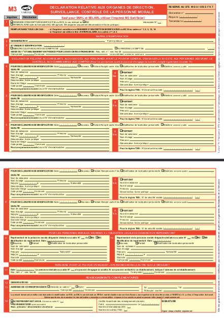 Formulaire M3 SCI