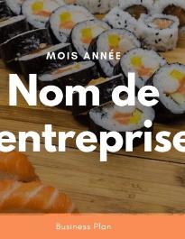 Modèle de business plan - Sushi restaurant