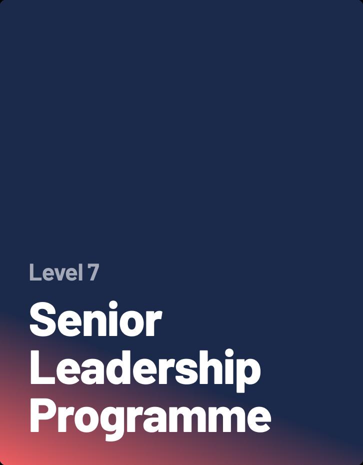 Senior Leadership Programme