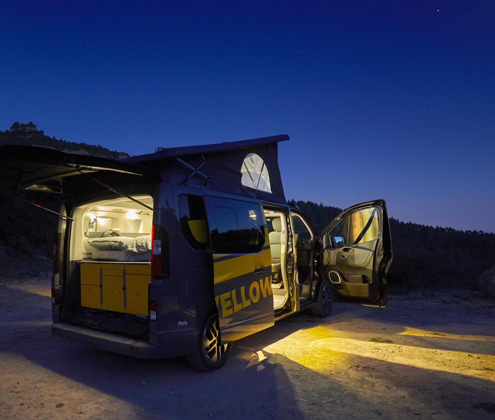 Süsse Träume im Yellowcamper Deluxe mit Schlafdach