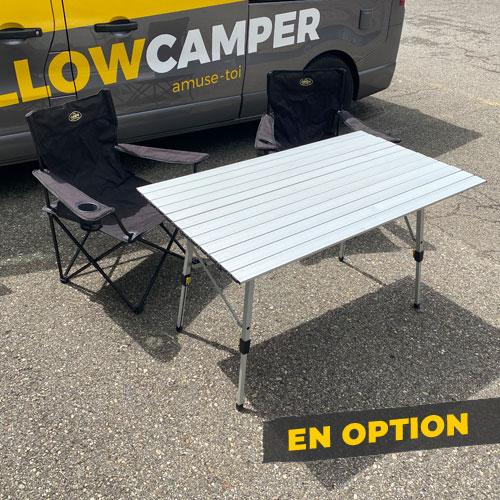 Table et chaises en option