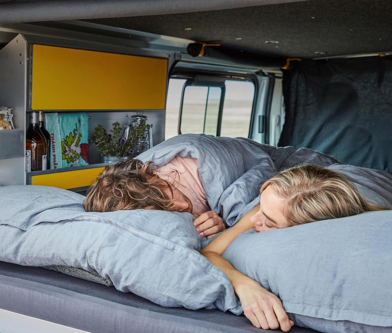 Yellowcamper Classic für erholsamen Schlaf mieten