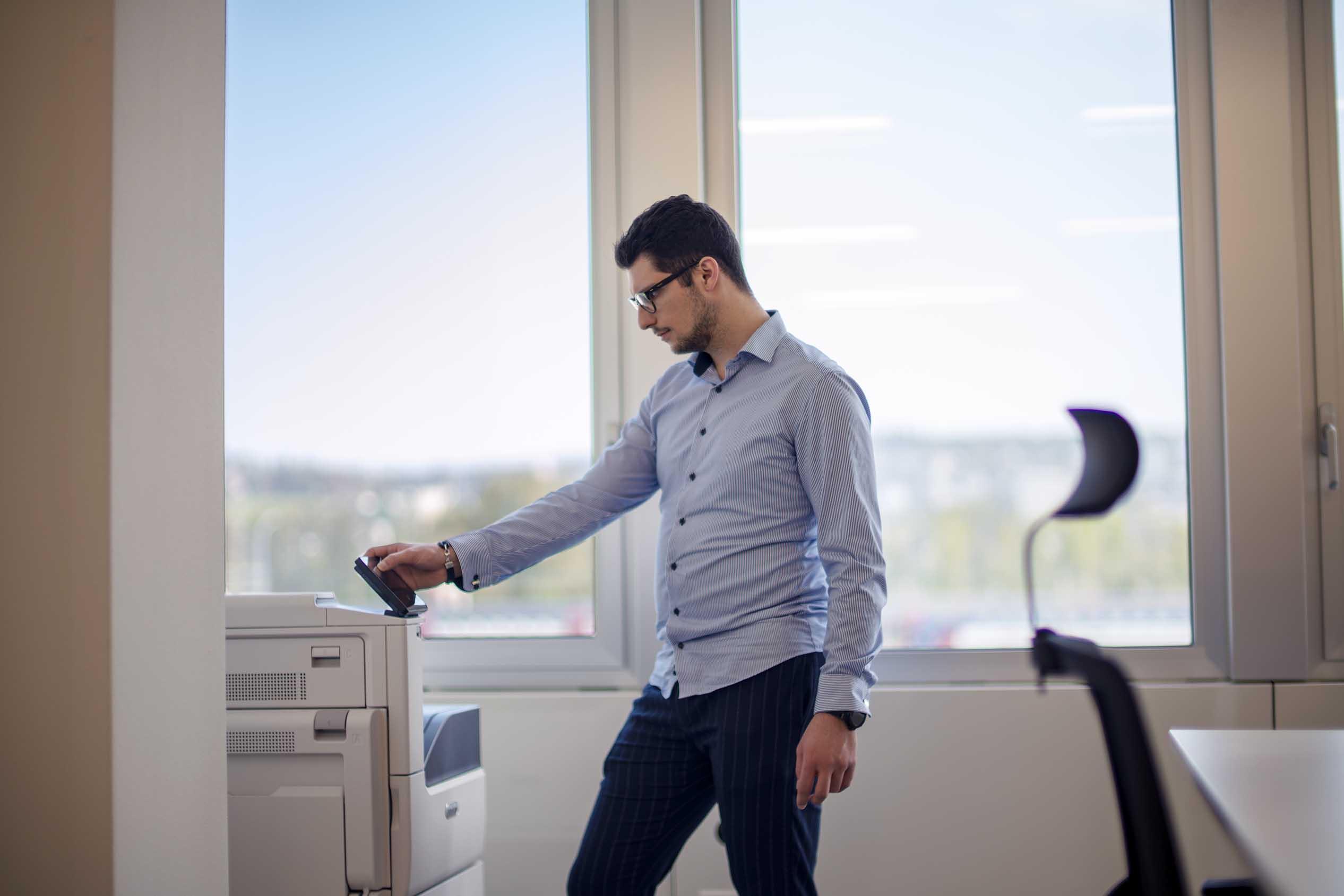 Xerox Drucker, bei uns ist das alles im Preis inbegriffen. Planbare kosten, ohne für jeden Sch**** zahlen zu müssen. Mood, future, altstetten, büro mieten business
