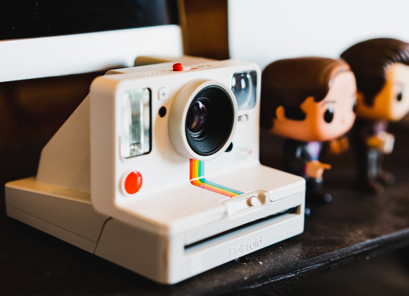 Image of trendy polaroid camera