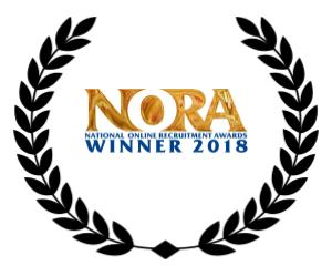 a wreath including n o r a best niche job board award