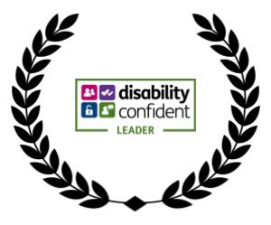 a wreath including disability confident level award