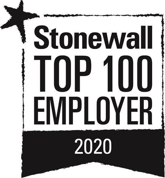 Stonewall top 100 employees 2020 prize