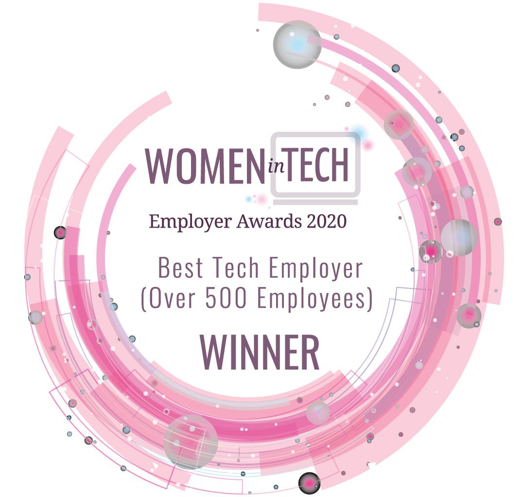 women in tech employer award 2020, best tech employer prize