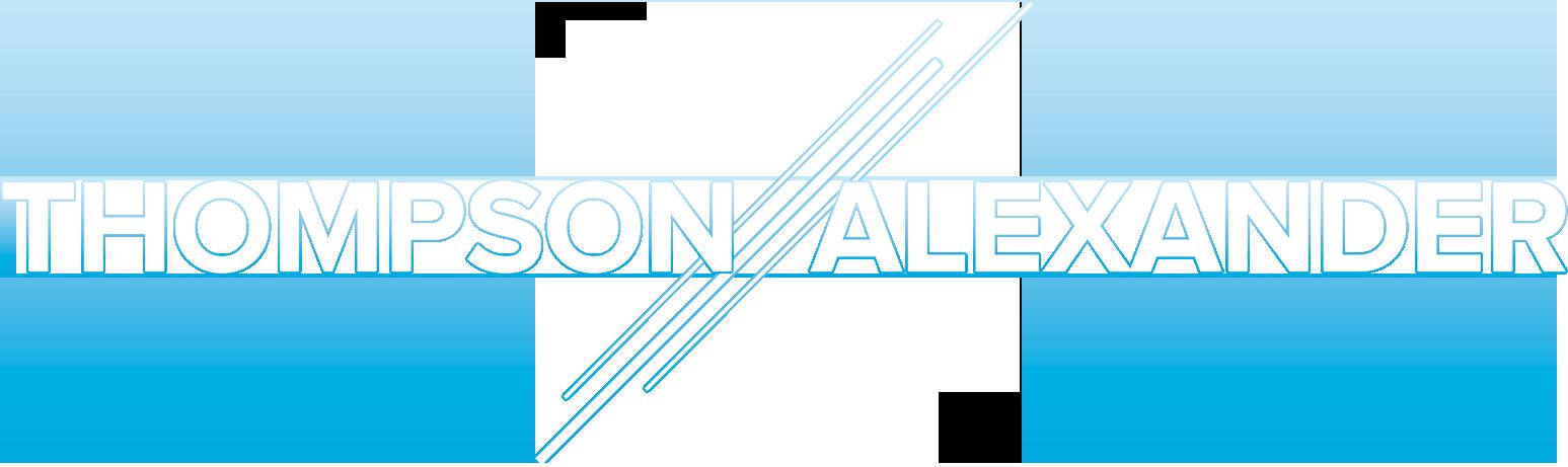 Thompson Alexander Logo in white text.