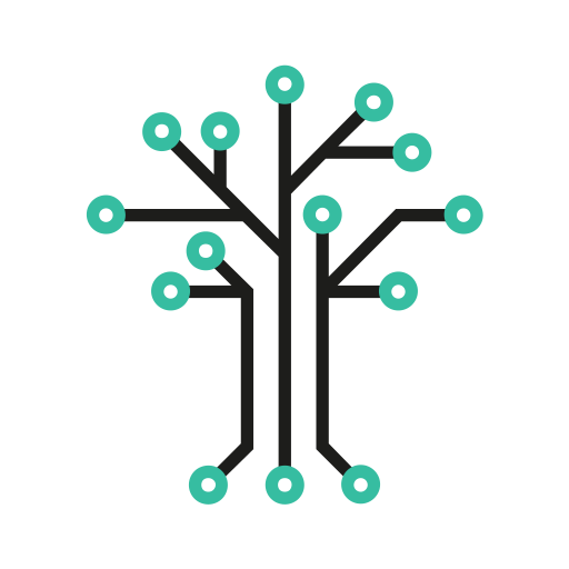 Graphic of a Digital Tree