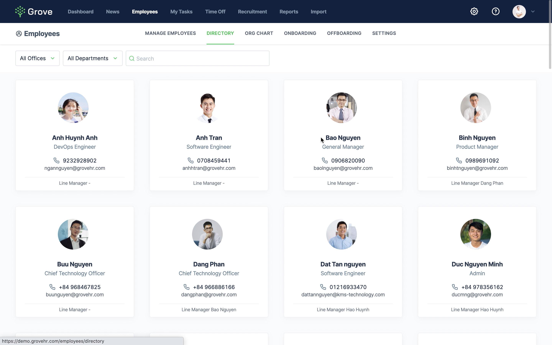 Grove HR - Directory