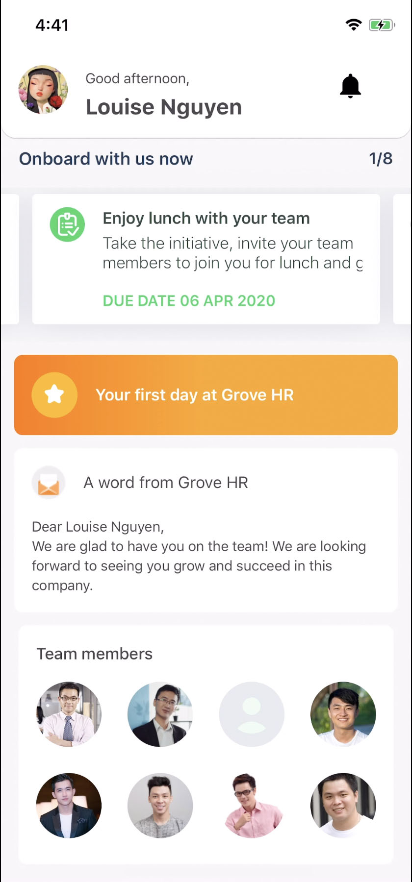 Grove HR - Mobile Onboarding