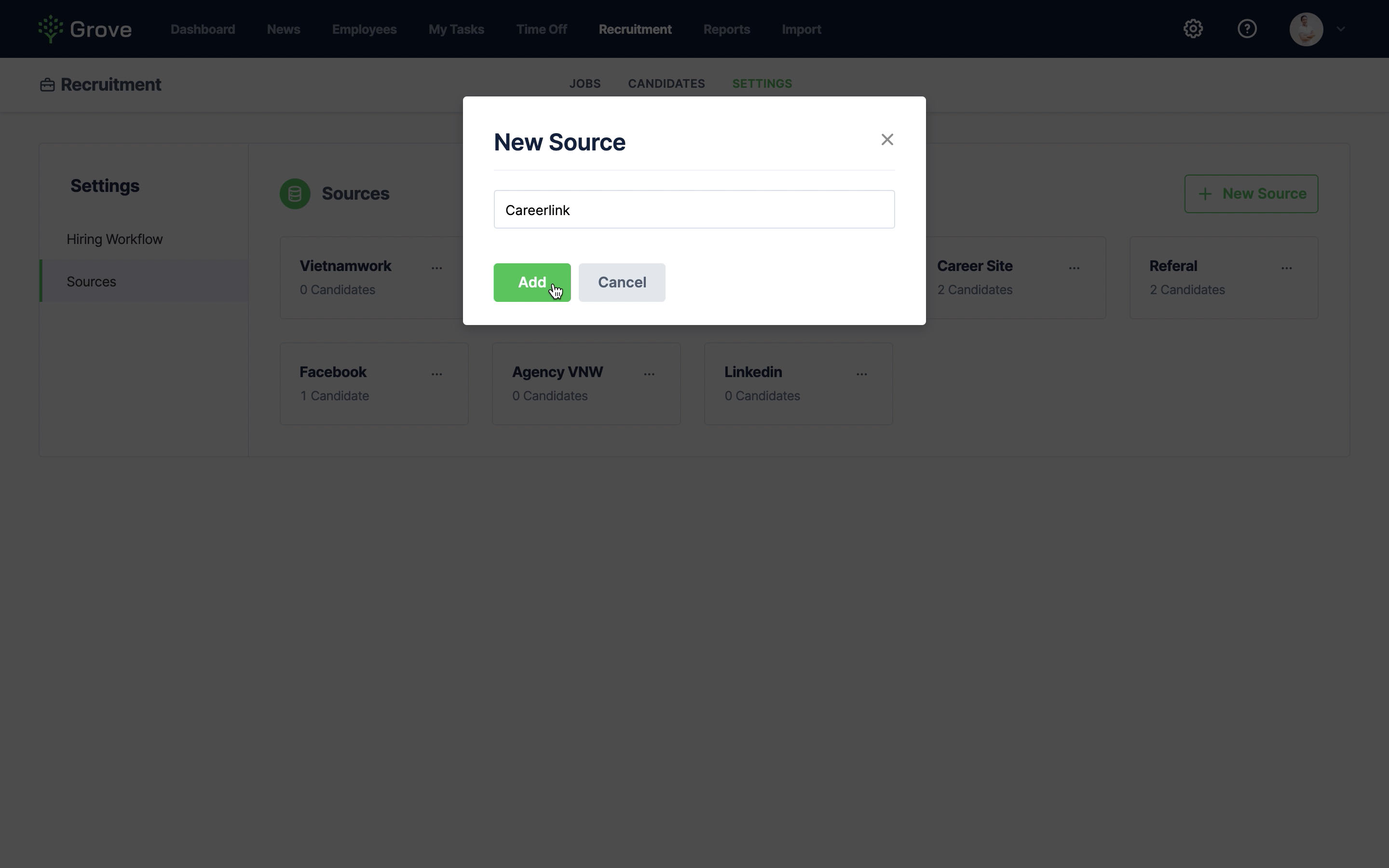 Grove HR - Job Board Integration