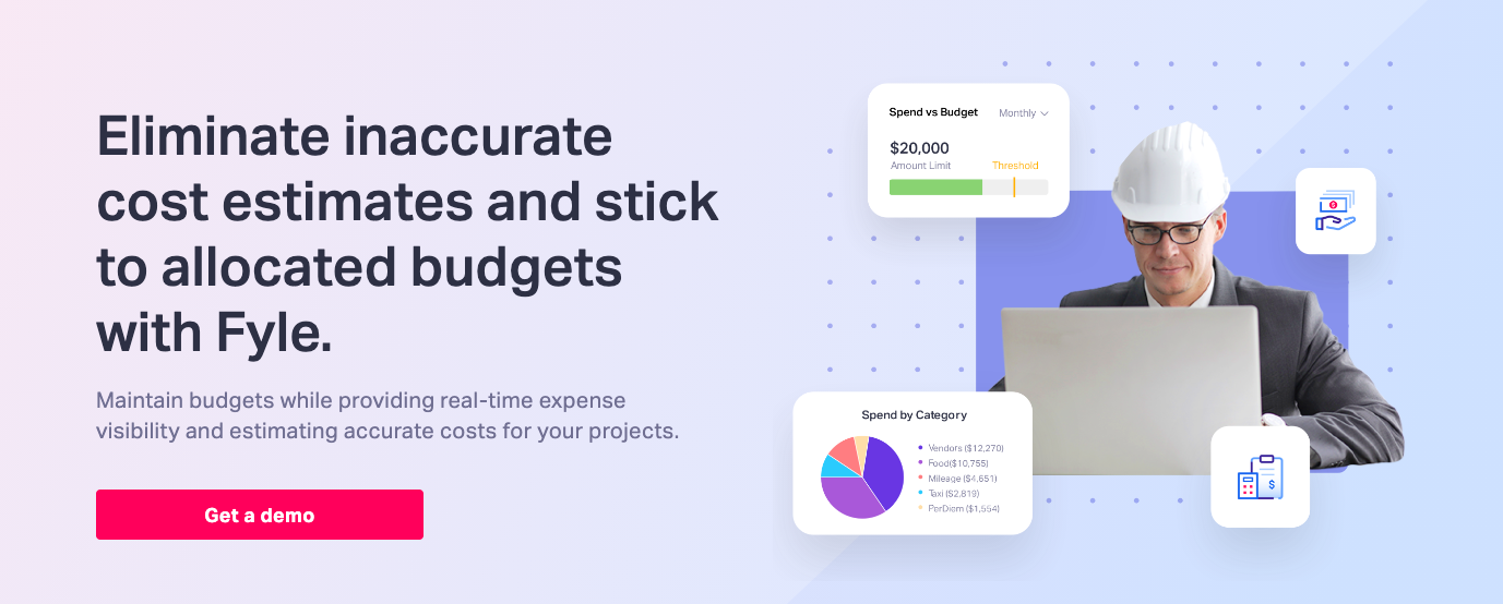 accurate cost estimate automated construction expense management software