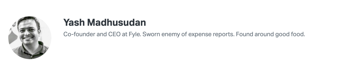 Fyle founder