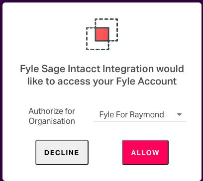 Sage Intacct Integration - Login