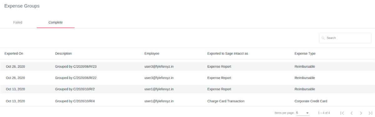 Sage Intacct Integration - expense details