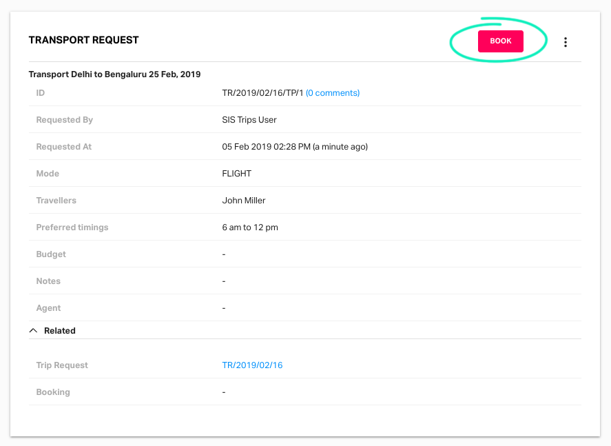 Managing trip requests on Fyle