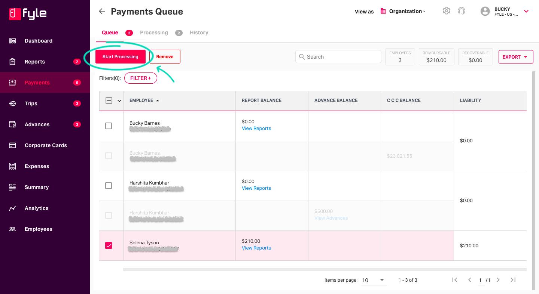 Expense reimbursement tracking with Fyle