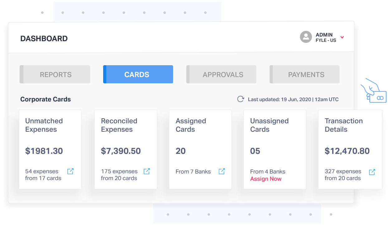 Credit card reconciliation and tracking with Fyle