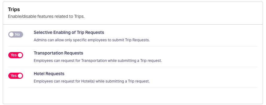 Advanced travel expense settings in Fyle