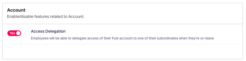 Account delegation in Fyle