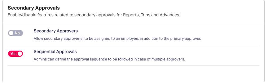 Advanced Approval settings in Fyle