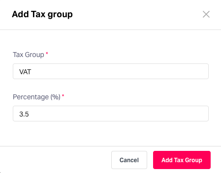 Add tax groups in Fyle