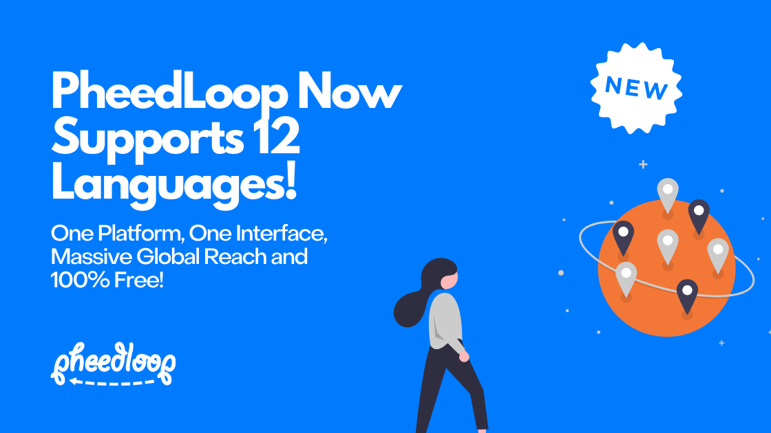 PheedLoop Now Supports 12 Languages for Free! Deliver Virtual and Hybrid Events to Global Audiences Effortlessly!