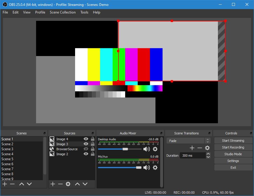 OBS (Open Broadcast Software) Screenshot