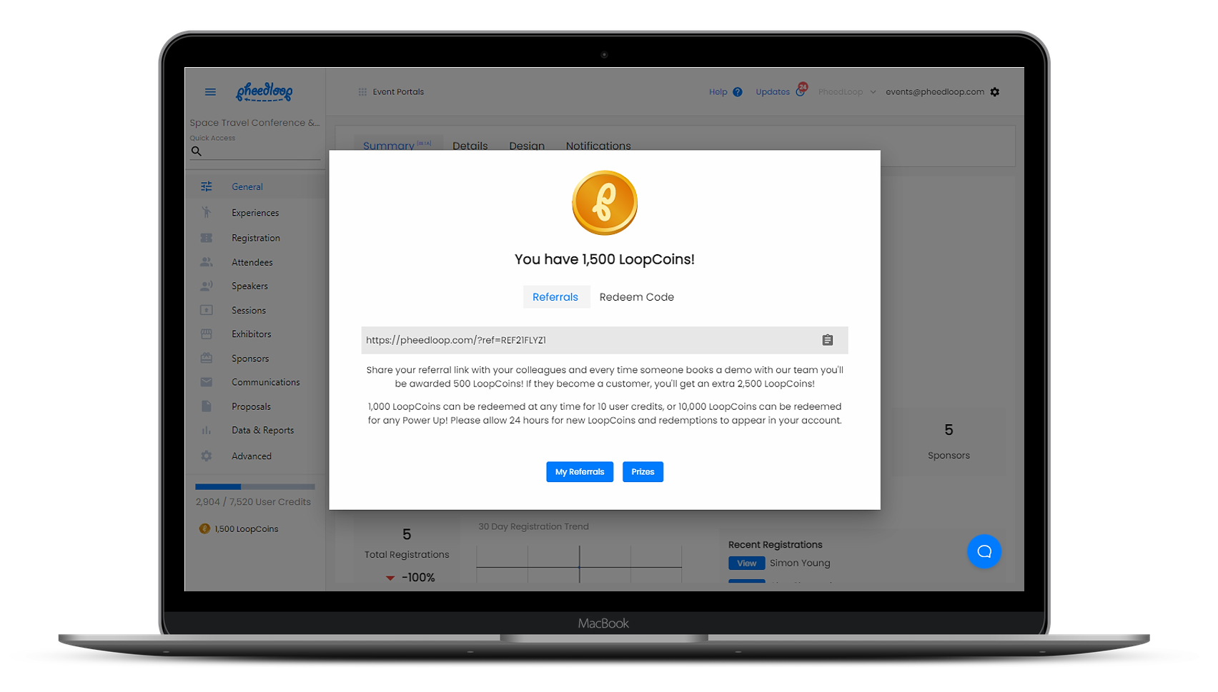 LoopCoin Screenshot