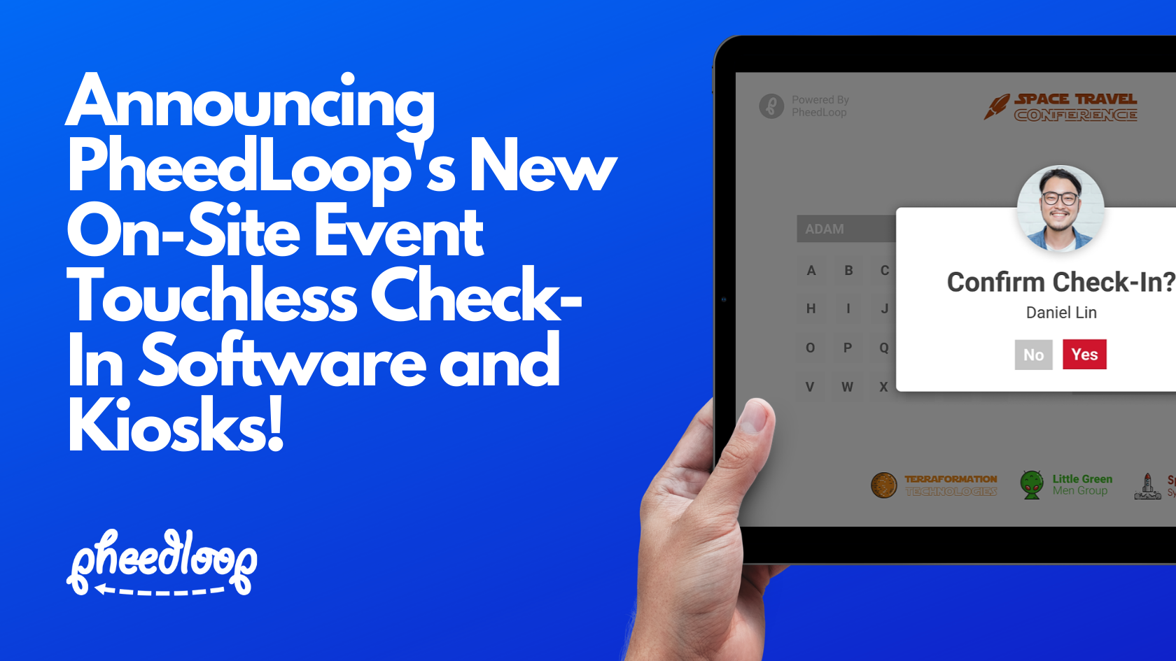 Announcing PheedLoop's New On-Site Event Touchless Check-In Software and Kiosks!