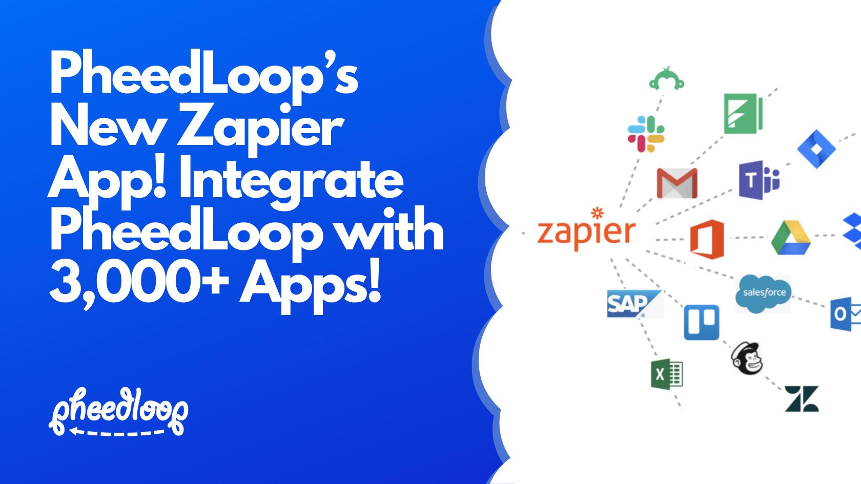 PheedLoop's New Zapier App! Integrate PheedLoop with 3,000+ Apps Using a Drag & Drop Builder!