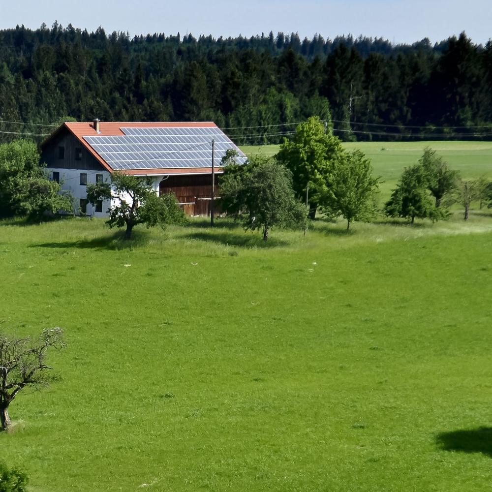 Campen auf dem Bauernhof