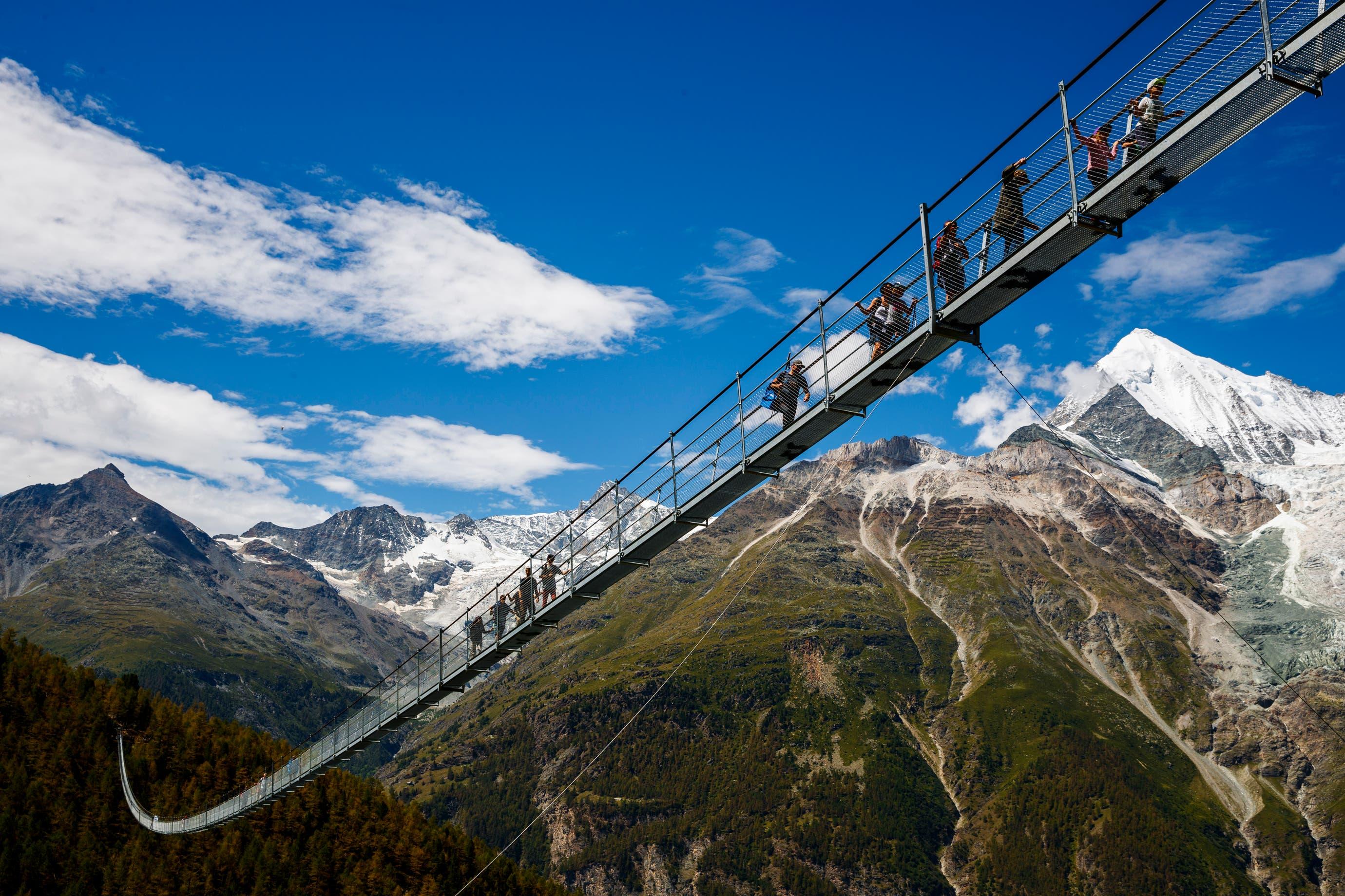 Längste Fussgänger-Hängebrücke Europas