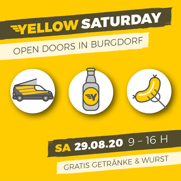 Yellow Saturday am 29. August 2020