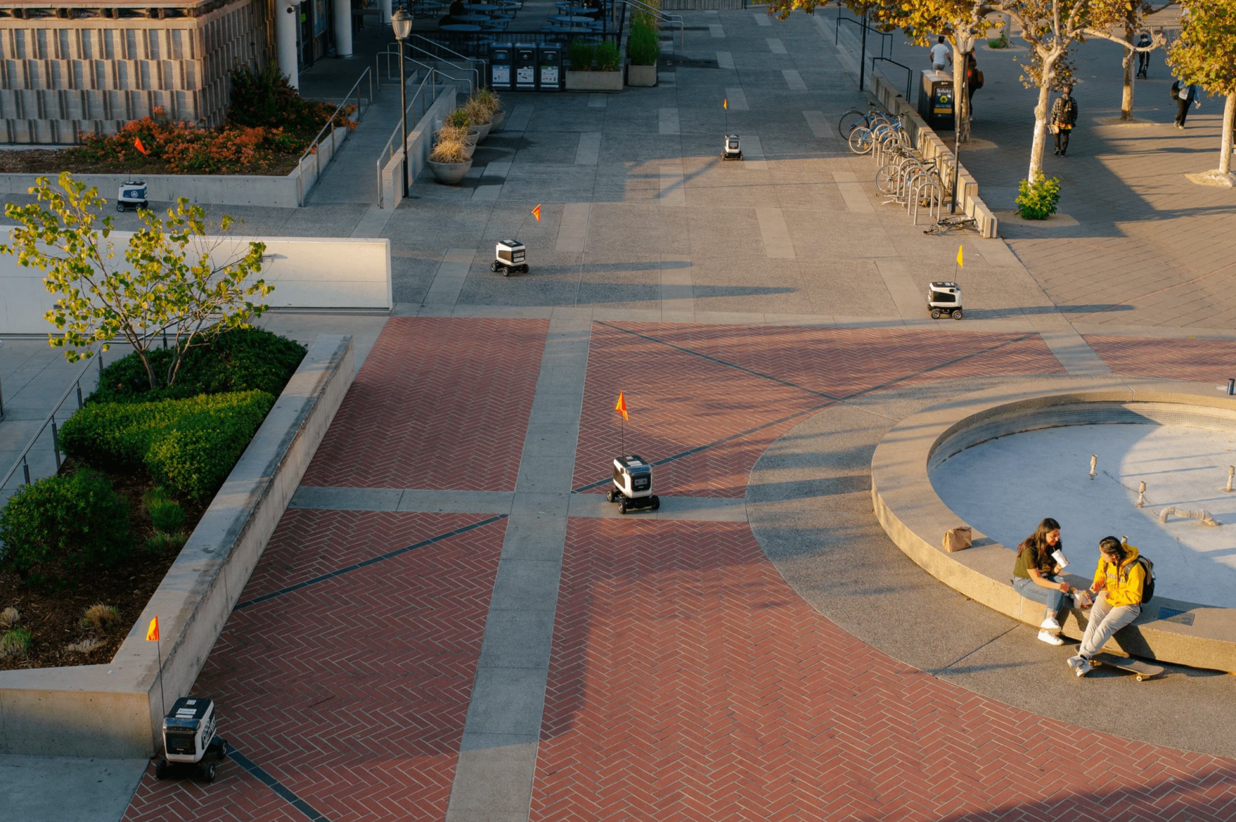 Robot delivery service for college campus