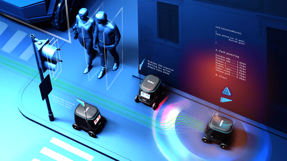 Self driving delivery robot infrastructure