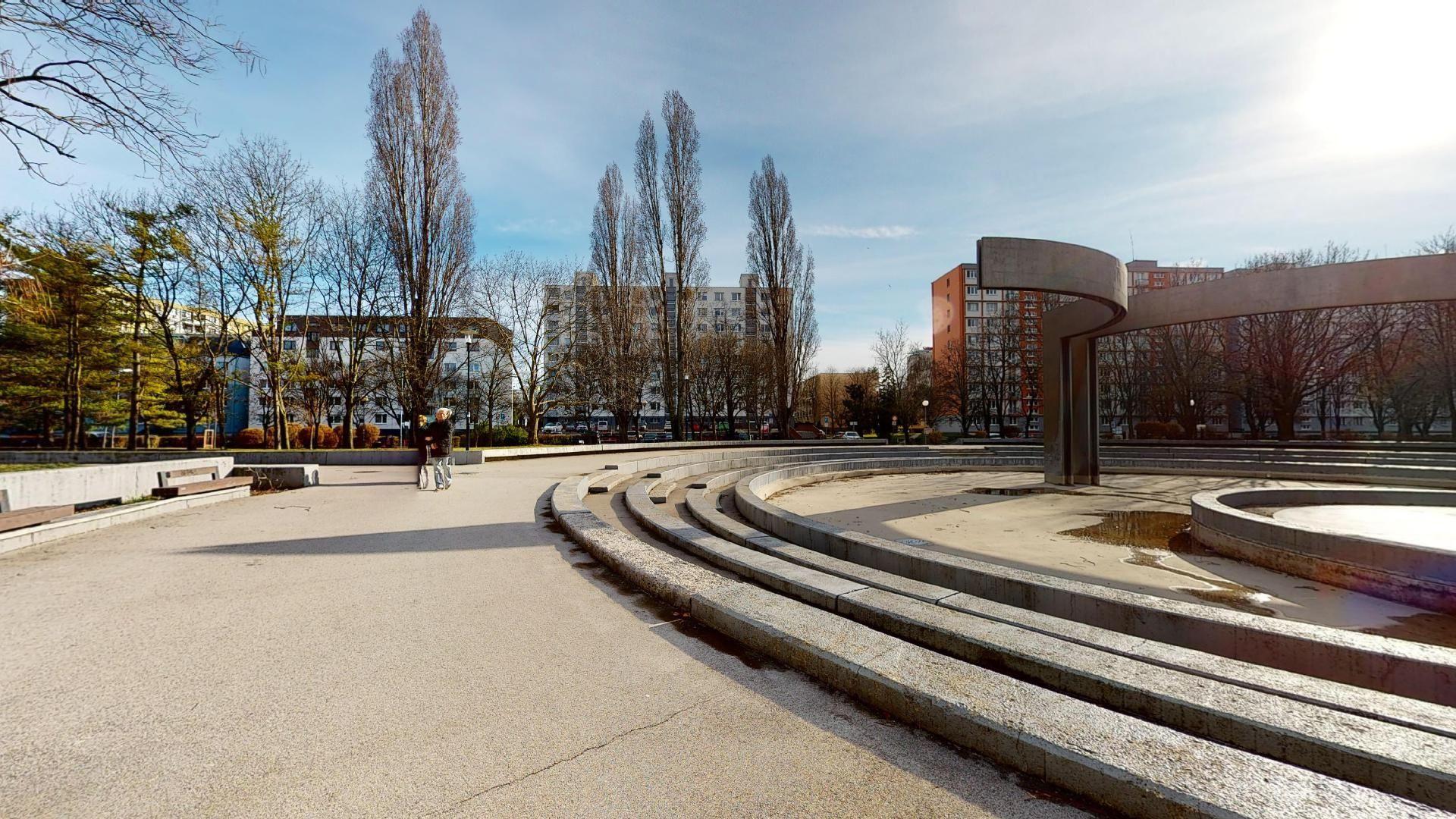 bývanie v Ružinove park Andreja Hlinku