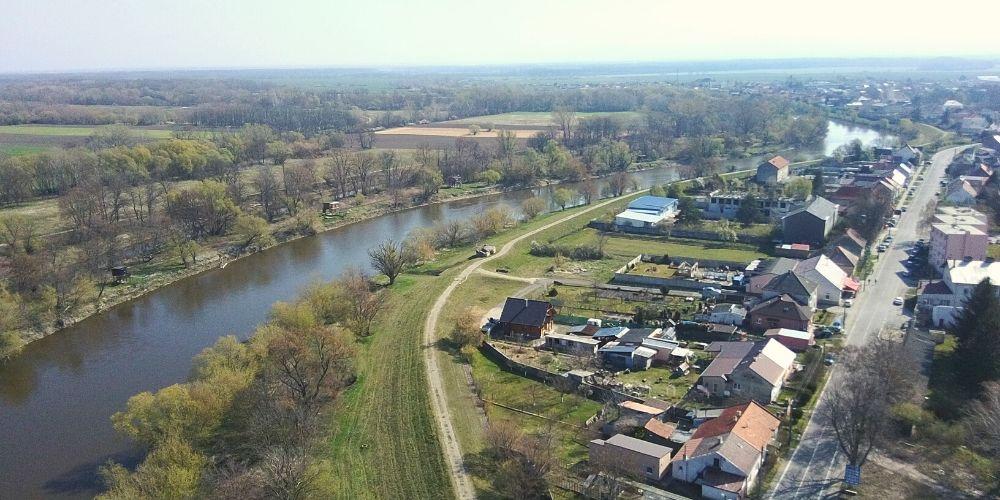 bývanie v Záhorskej Vsi pohľad na Moravu