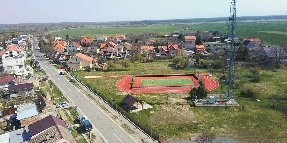 bývanie v Záhorskej Vsi športové ihrisko