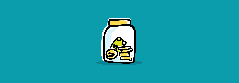 Money jar for child's education fund