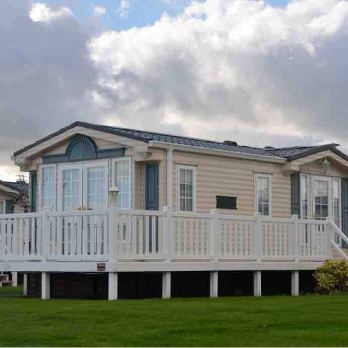 Contemporary home in a manufactured home community