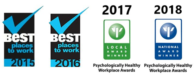 Logo for Best place to work award winner 2015