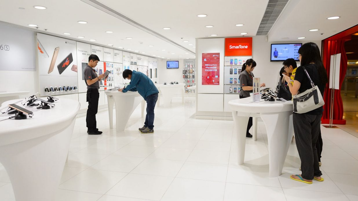 Image of a telco retail store in Asia