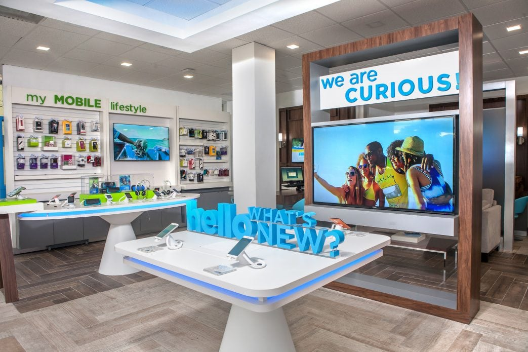 Inside a Flow telco retail store