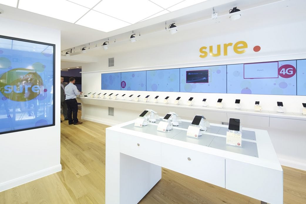 Image from inside a SURE Wireless telco store