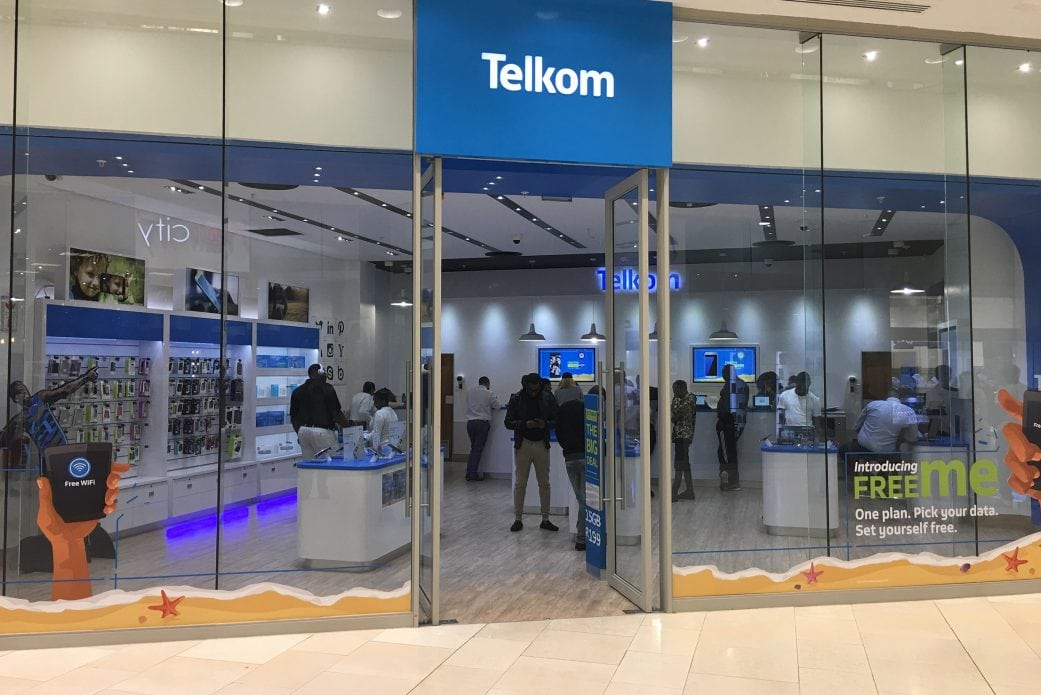 Telkom in South Africa store front in a shopping centre
