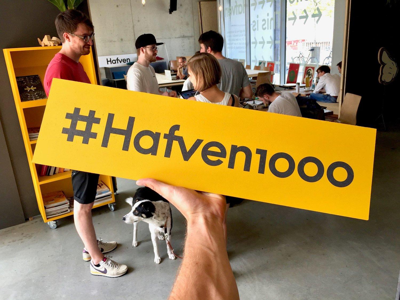 Mit deiner Hilfe werden wir #Hafven1000